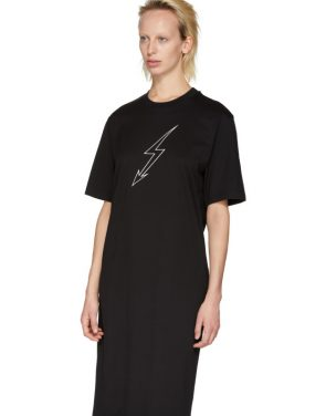 photo Black Lightning Bolt World Tour T-Shirt Dress by Givenchy - Image 4