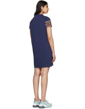photo Navy Limited Edition Multicolor Logo Dress by Kenzo - Image 3