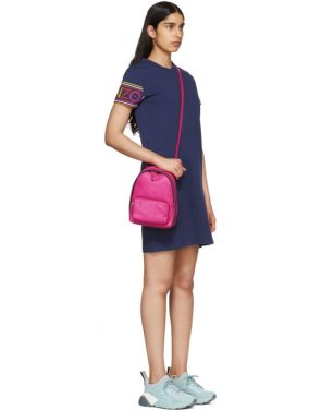 photo Navy Limited Edition Multicolor Logo Dress by Kenzo - Image 5