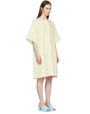 photo Beige Linen Back Pleat Dress by Mansur Gavriel - Image 2