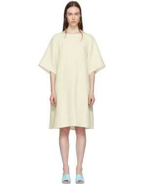 photo Beige Linen Back Pleat Dress by Mansur Gavriel - Image 1