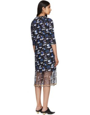 photo Black Paulas Ibiza Edition Circus Fringe Dress by Loewe - Image 3
