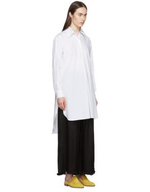 photo White Tunic Shirt Dress by Rosetta Getty - Image 2