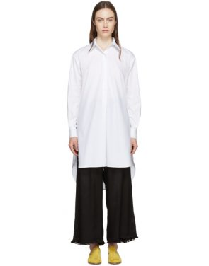 photo White Tunic Shirt Dress by Rosetta Getty - Image 1