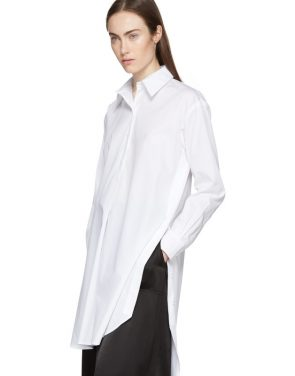 photo White Tunic Shirt Dress by Rosetta Getty - Image 4