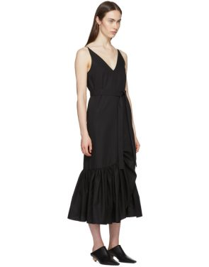 photo Black Ruffle Camisole Dress by Rosetta Getty - Image 2