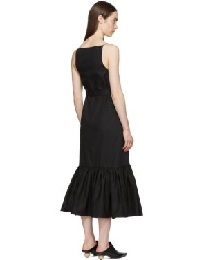 photo Black Ruffle Camisole Dress by Rosetta Getty - Image 3