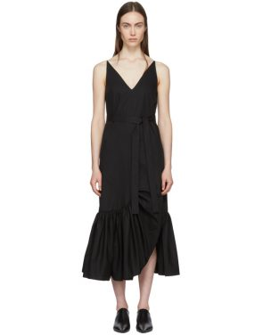 photo Black Ruffle Camisole Dress by Rosetta Getty - Image 1