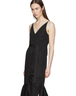 photo Black Ruffle Camisole Dress by Rosetta Getty - Image 4