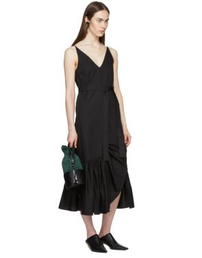 photo Black Ruffle Camisole Dress by Rosetta Getty - Image 5