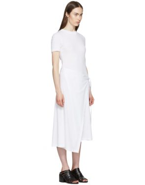 photo White Apron Wrap T-Shirt Dress by Rosetta Getty - Image 2