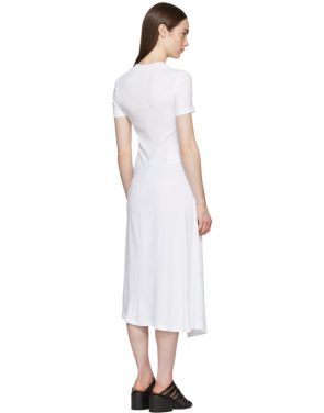 photo White Apron Wrap T-Shirt Dress by Rosetta Getty - Image 3