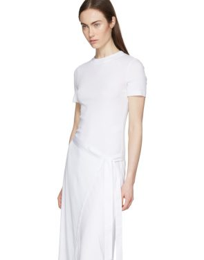 photo White Apron Wrap T-Shirt Dress by Rosetta Getty - Image 4