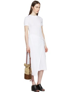 photo White Apron Wrap T-Shirt Dress by Rosetta Getty - Image 5