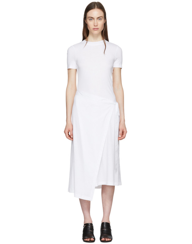 photo White Apron Wrap T-Shirt Dress by Rosetta Getty - Image 1
