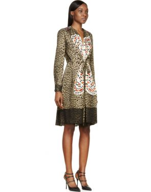 photo Leopard Print Silk Butterfly Embroidered Dress by Givenchy - Image 2