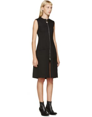 photo Black Angled Pleat Dress by Thomas Tait - Image 2