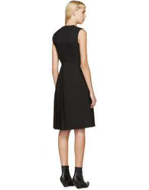 photo Black Angled Pleat Dress by Thomas Tait - Image 3