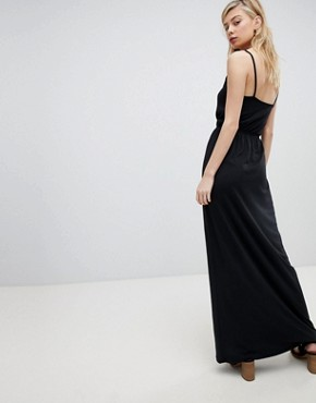 photo Strappy Maxi Dress by New Look, color Black - Image 2