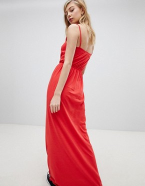 photo Strappy Maxi Dress by New Look, color Red - Image 2