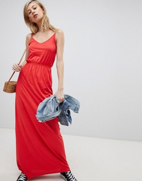 photo Strappy Maxi Dress by New Look, color Red - Image 1