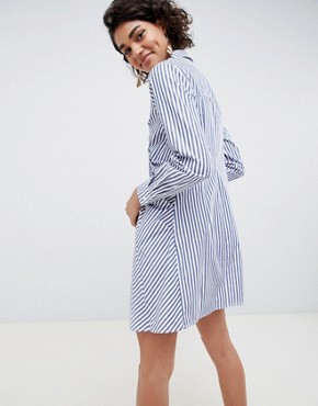 photo Shirt Dress in Stripe by ASOS WHITE, color Multi - Image 2