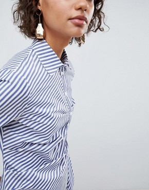 photo Shirt Dress in Stripe by ASOS WHITE, color Multi - Image 1