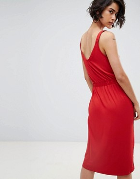photo Cami Midi Dress by Warehouse, color Red - Image 2