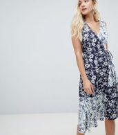 photo Willow Print Cotton Midi Dress by Warehouse, color Multi - Image 1