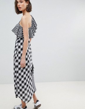 photo Gingham Frill Maxi Dress by Reclaimed Vintage Inspired, color Multi - Image 2