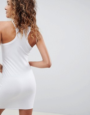photo Hook and Eye Racer Back Mini Dress by ASOS DESIGN, color White - Image 2