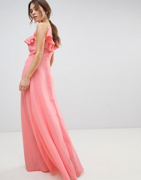 photo Ruffle Maxi Dress by New Look, color Dark Coral - Image 2