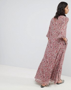 photo Bird Print Maxi Dress by Sofie Schnoor, color Ash Rose - Image 2