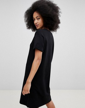 photo Black Jersey Dress by Pull&Bear, color Black - Image 2