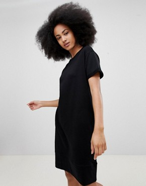photo Black Jersey Dress by Pull&Bear, color Black - Image 1