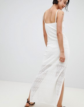 photo Knitted Dress Plain by Stradivarius, color White - Image 2