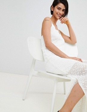 photo Knitted Dress Plain by Stradivarius, color White - Image 4