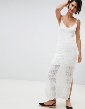 photo Knitted Dress Plain by Stradivarius, color White - Image 1