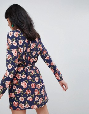 photo Floral Shirt Dress by Unique 21, color Multi - Image 2