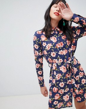 photo Floral Shirt Dress by Unique 21, color Multi - Image 1