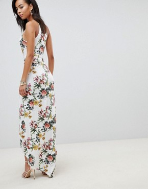 photo Slinky Occasion Maxi Dress in Floral Print by ASOS DESIGN Tall, color Multi - Image 2