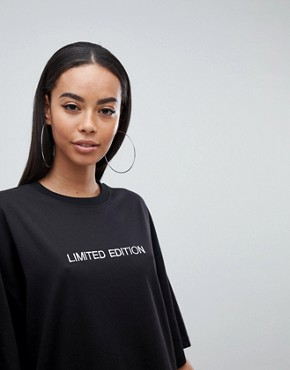 photo T-Shirt Dress 'Limited Edition' by Missguided Tall, color Black - Image 3