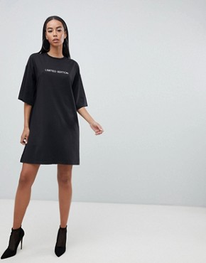 photo T-Shirt Dress 'Limited Edition' by Missguided Tall, color Black - Image 4