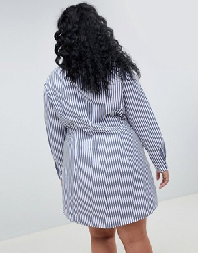 photo Shirt Dress in Stripe by ASOS WHITE CURVE, color Multi - Image 2