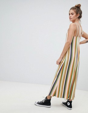photo Cami Dress in Multi Stripes by Pull&Bear, color Multi - Image 2