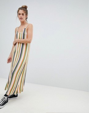 photo Cami Dress in Multi Stripes by Pull&Bear, color Multi - Image 1