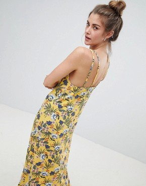 photo Cami Dress in Yellow Floral by Pull&Bear, color Yellow - Image 2
