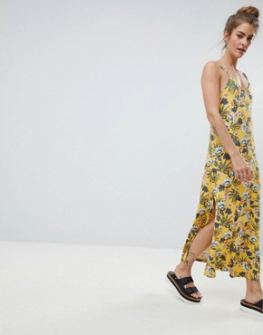 photo Cami Dress in Yellow Floral by Pull&Bear, color Yellow - Image 1