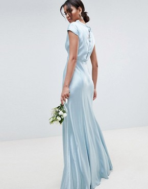 photo Bridesmaid Maxi Dress with Cowl Neck by Ghost, color Sky Light - Image 2