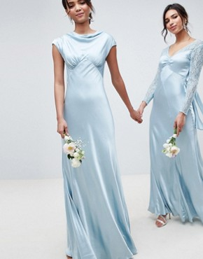 photo Bridesmaid Maxi Dress with Cowl Neck by Ghost, color Sky Light - Image 1